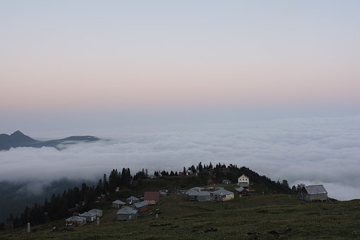 Landscape, Panoramic, Mountain, Sky, Nature