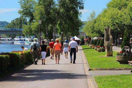 Road, Tree, Summer, City, Leisure, Promenade, Remich