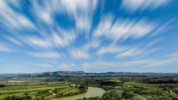Miravet, Tourism, Sky, Ebro River, Riu Ebre, Panoramic