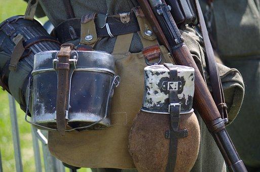Soldier, Uniform, Old, Weapon