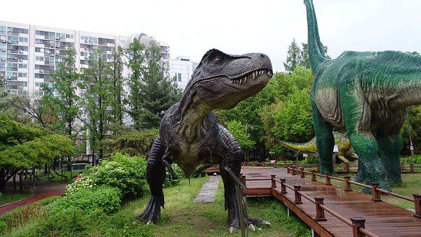 Statue, Dinosaurs, Despicable, Sculpture, Park