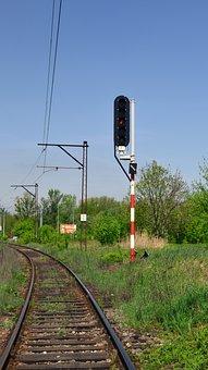 Train Track, Railway Line, Semaphore, Transport