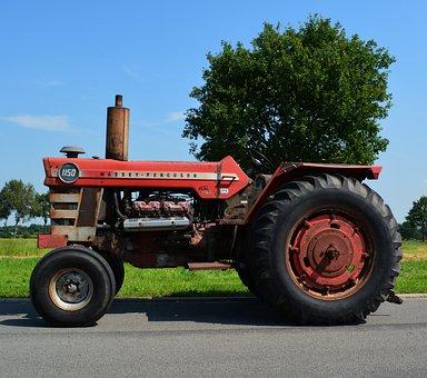 Tractor, Vehicle, Machine, Massey Ferguson, Agriculture