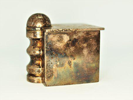 Old, Desktop, Antique, Container, Metallic, Brass