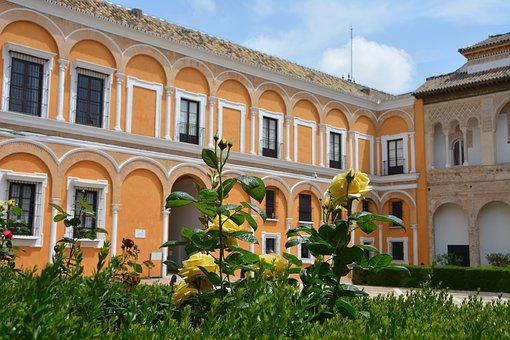 Architecture, Alcazar, Andalusia, Seville, Spain