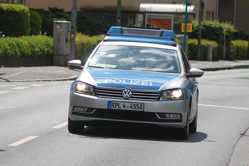 Auto, Asphalt, Road, Transport System, Vehicle, Police