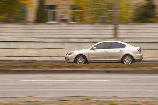 Car, Blur, Hurry, Act, Asphalt, Road