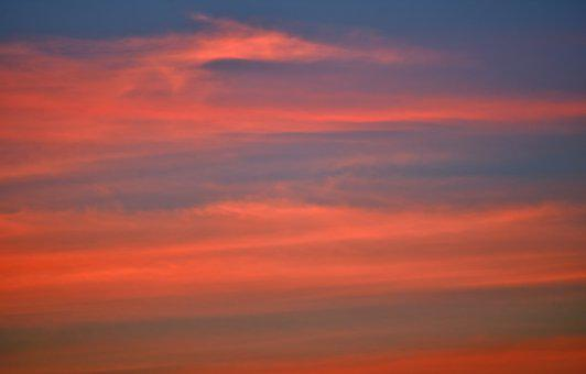 Sunset, Nature, Sky, Clouds, Fair Weather, Summer