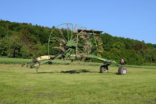 Windrower, Hay Tedders, Computing, Iron, Old, Metal