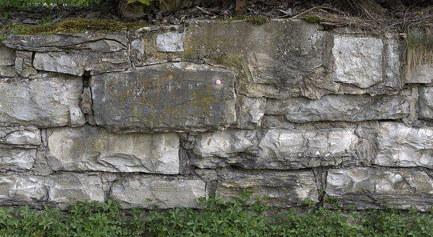 Stone Wall, Quarry Stone, Natural Stone, Joints, Split