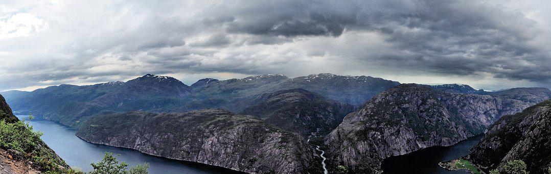 Panoramic, Nature, Landscape, Panorama, Clouds, View