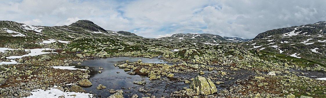 Nature, Panoramic, Landscape, Panorama, Sky, Norway