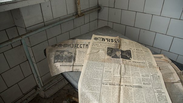 Newspaper, Russian, Historic, Izvestia, Table, News