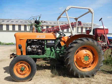 Tractor, Machine, Earth, Oldtimer