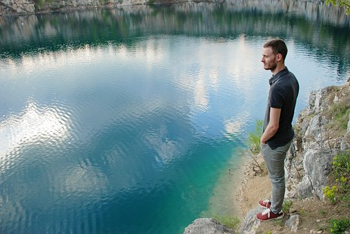 Water, Lake, Outdoors, Travel, River, Guy, Reflection