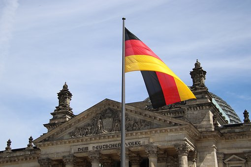 Germany, Berlin, Reichstag, Flag, German Flag, Cloud