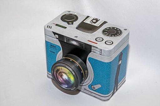 Camera, Dummy, Tin Can, Storage, Technology, Equipment