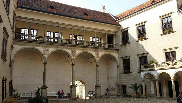 Telč, Czechia, Castle, History, Courtyard, Monument