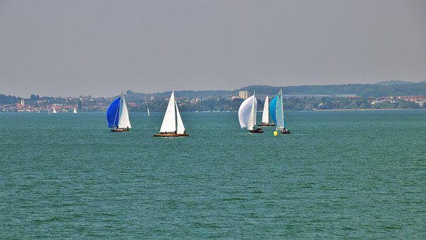 Lake, Wind, The Sail, Sailboat, The Horizon, Relaxation