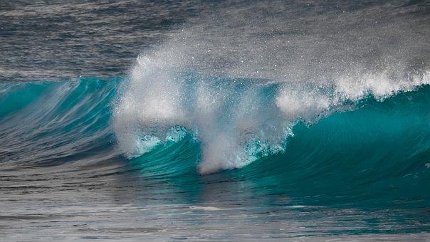 Water, Surf, Ocean, Sea, Spray, Wind, Motion, Swirl
