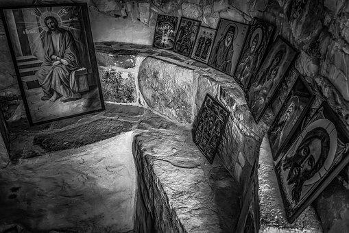 Church, Cave, Architecture, Icons, Religion, Faith