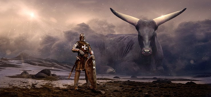 Fantasy, Knight, Beef, Clouds, Mystical, Shield, Armor