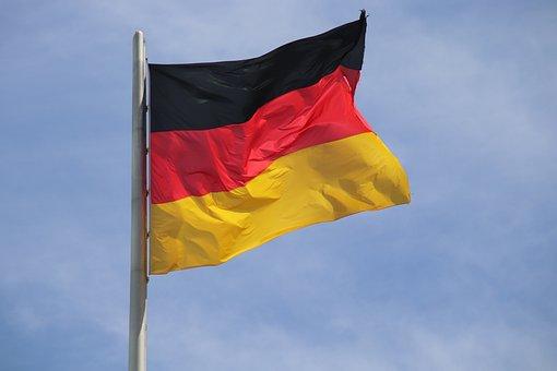 German Flag, Flag, National Flag, Black, Red, Gold