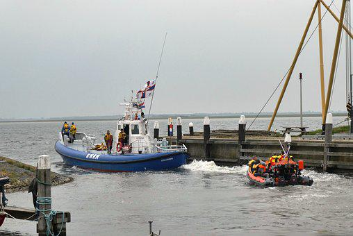Lifeboat, Knrm-day, Port, Ouddorp, Sea, Boat, Water