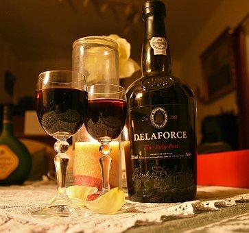 Drink, Wine, Alcohol, Bottle, Glass, Port Wine, Glasses
