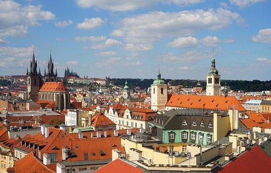 Panorama, Prague, Czechia, Cityscape, City, Town