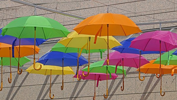 Umbrella, Protection, Fun, Decoration, Colorful, Color