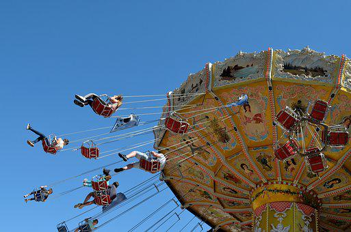 Kettenkarussel, Fair, Carousel, Historically, Sky