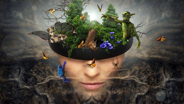 Fantasy, Portrait, Fairy Tale World, Surreal, Root