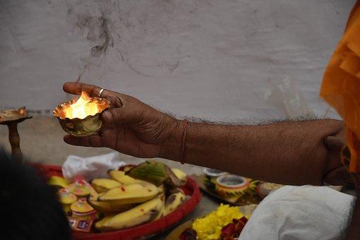 Flame, People, Religion, Hindu, Buddhist Monk
