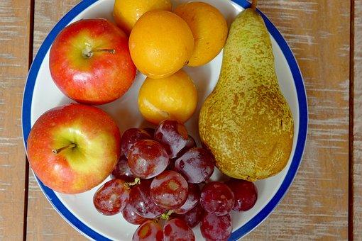 Fruit Plate, Food, Fruit, Healthy, Apple