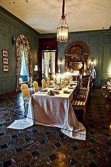 Table, Formal, Dinner, Indoors, Furniture, Luxury