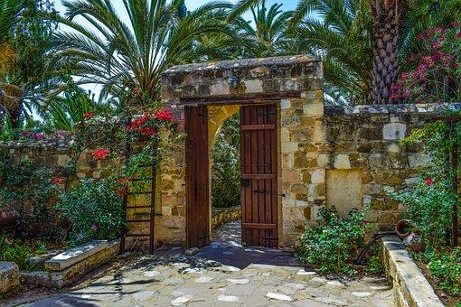 Monastery, Entrance, Architecture, Garden, Gate