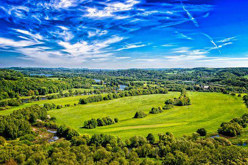Landscape, Germany, Nature, Distant View, Spring, View
