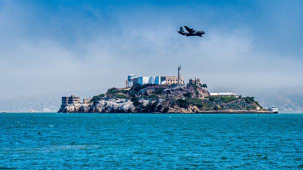 Alcatraz, Sea, Travel, Sky, Side, Island, Bay