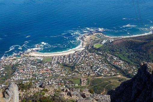 Camps Bay, Cape Town, Sea, Seashore, Landscape, Water