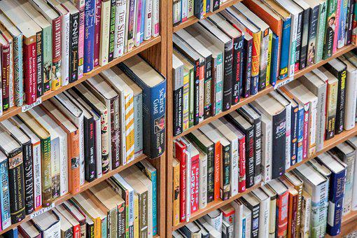 Bookcase, Shelf, Library, Bookstore, Literature