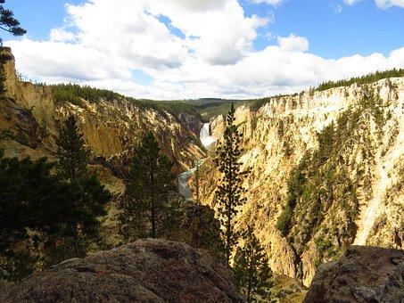 Nature, Landscape, Yellowstone National Park, Usa