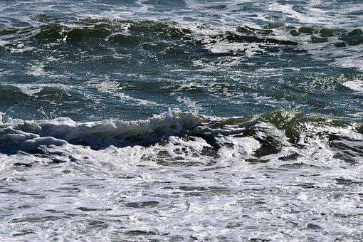 Water, Sea, Wave, Ocean, Surf, Foam, Nature, Seashore