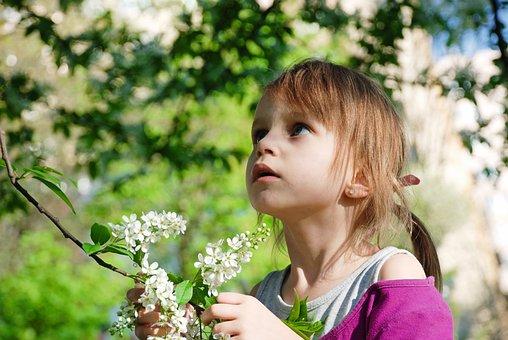 Nature, Flower, Summer, Outdoors, Lovely, Girl, Plant