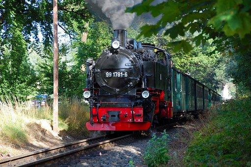 Railway, Railway Line, Train, Transport System, Rügen