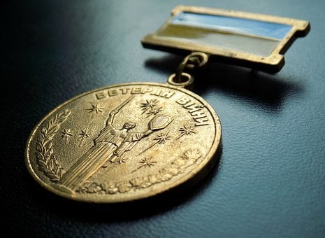 Medal, Jubilee Medal, War Veteran, Decoration, Reward
