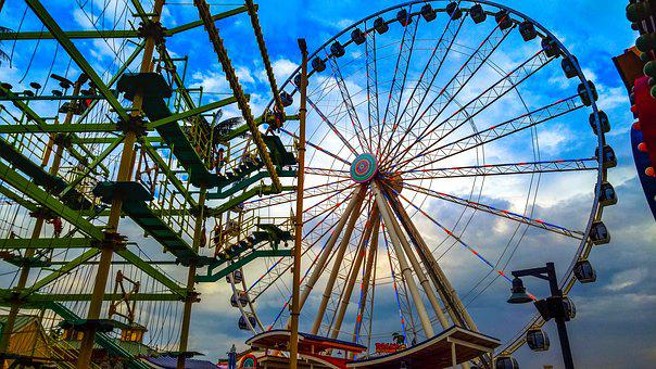Ferris Wheel, Sky, Roll Along, Carousel, Pigeon Forge