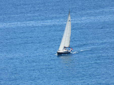 Sailboat, Body Of Water, Boat, Yacht, Sea, Summer