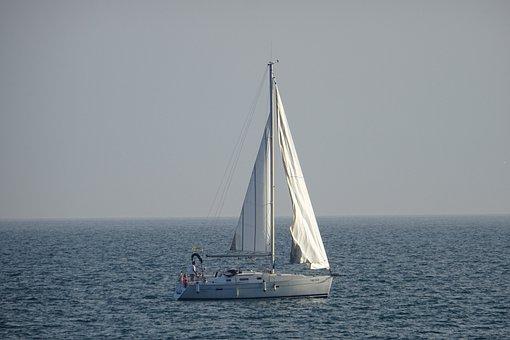 Body Of Water, Sea, Sailboat, Ocean