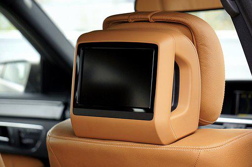 Car, Seat, Tv, Dvd, Vehicle, Automobile, Auto, Interior